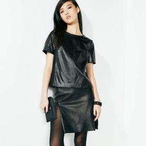 DVF leather rita 2 pencil 100% lamb leather skirt
